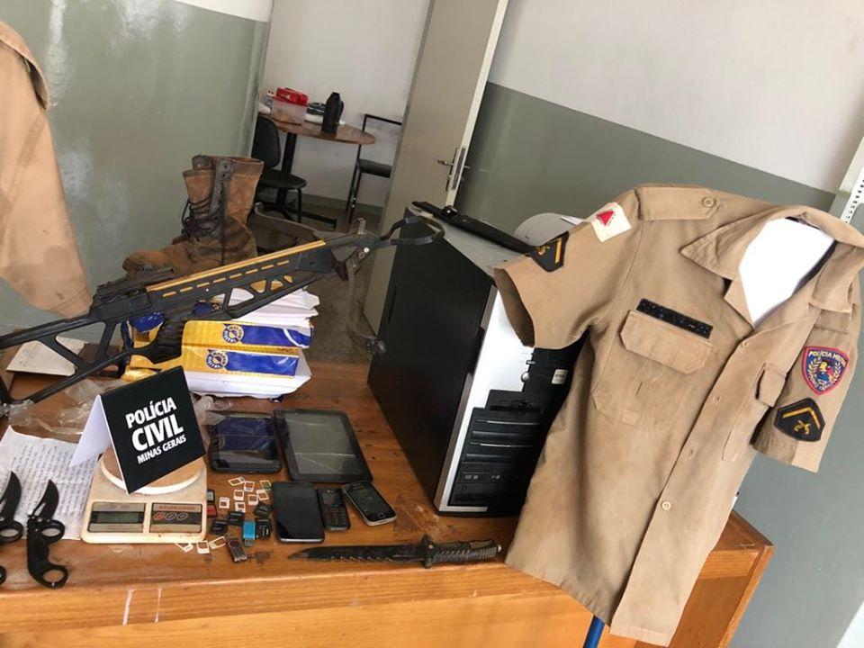 PC cumpre mandado de busca e apreensão em Campos Altos