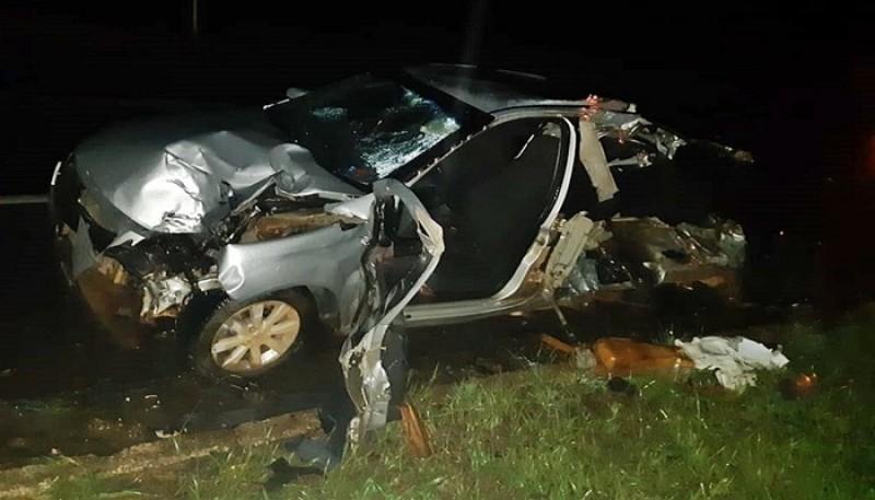 Acidente matou quatro pessoas em rodovia de Baependi (MG) — Foto: Polícia Rodoviária Federal