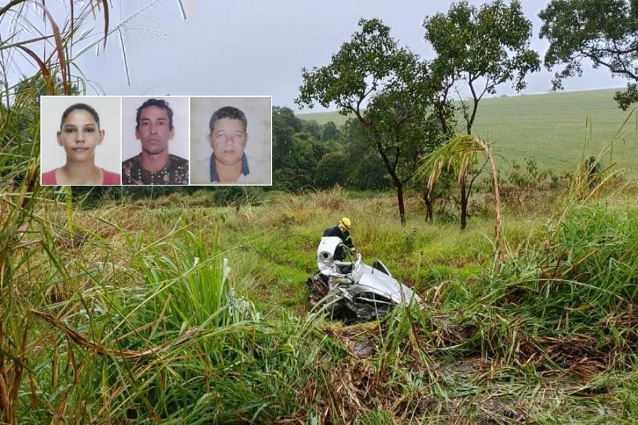 Três pessoas morrem em batida de frente na BR-452, próximo a Araxá