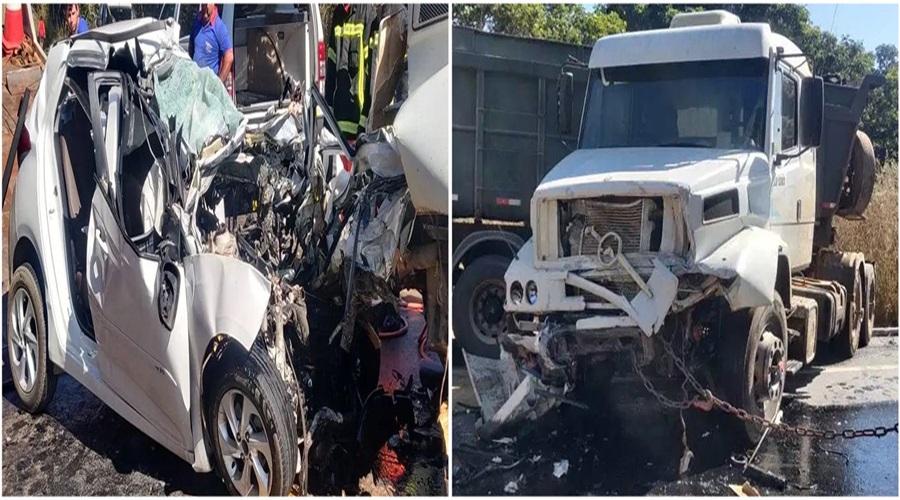 Motorista morre em batida violenta na BR-365