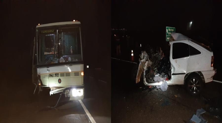Três mulheres morrem e homem fica ferido em acidente na BR-376