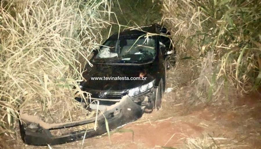 Acidente entre carro e carreta é registrado na BR-262,em Luz/MG