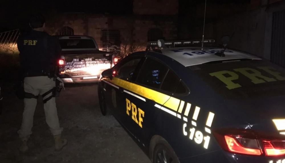 Após perseguição, caminhonete roubada é recuperada com 600 KG de maconha, na BR-262